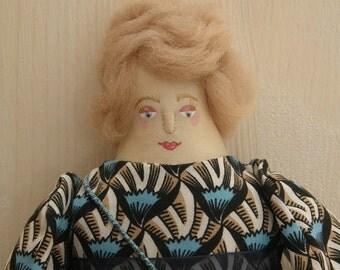 Ardith - A Folk Art Rag Doll