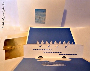 Rowing Crew Pop-Up Card - Item 1400