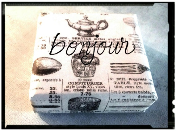 French Flea Market! Our fragrant 5 dollar Vegan soaps. Huge Selection. Just like potato chips...you can't have just one!
