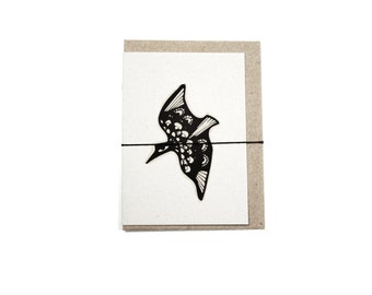 100% Recycled Mini Card- Flying Bird