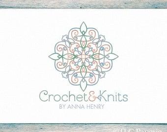 Crochet Logo, Knitting Logo, Crafting Logo, Custom Logo, Business Logo, Premade Logo Design, Custom Logo, Yarn Logo