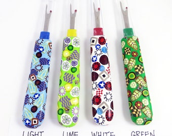 Seam Ripper Handmade Polymer Clay Handle Colorful Canework Dritz Sewing Tools Cutting Tools Seamstress Gift Choose Color