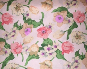 """Martha Negley PWMN091 Seasons Spring Pink Floral Quilting 18"""" BTHY Nature Rowan Westminster Half Yard 18"""" Quilt Fabric HY BHY Floral"""