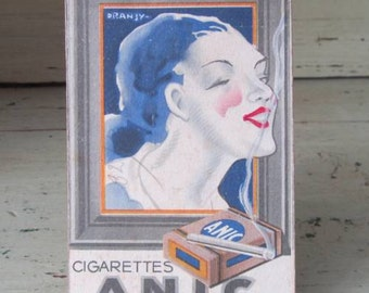 Jot Down My Notes - Vintage French Anic Cigarette Note Pad - Art Deco 1930s