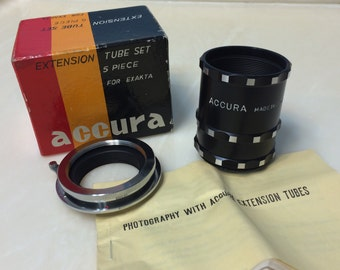 Accura Extension Tube set for Exakta
