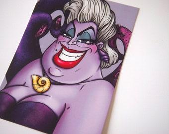 Ursula - The Little Mermaid Postcard