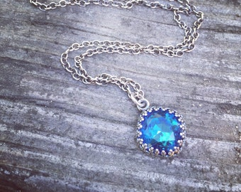 Swarovski Bermuda Blue Heart of The Ocean Necklace