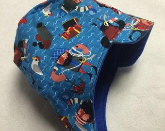Reversible pirates winter hat sizes newborn to adult