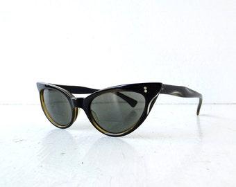 Cat Eye Glasses / 1950s Sunglasses / Swan / Vintage Eyeglasses