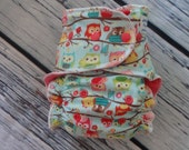 Stay Dry One Size Overnight Fitted Cloth Diaper in Owls
