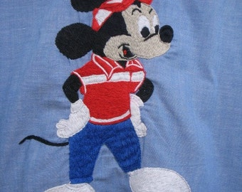 Vintage Big Yank Work Shirt w/ Mickey Mouse Embroidered  Design Disney Work-mates Union Made Shirt