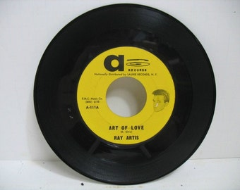 Vintage 45rpm Record Ray Artis Art of Love Thats All I want From You On A label Doo Wop Soul Vinyl Record