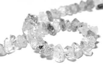 Herkimer Nugget, Herkimer Crystal Double Terminated  Quartz Terminated. center-drilled. 10 x 6mm. Semi Precious Gemstone (bhk3)