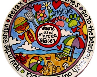 """CUSTOM 15""""  Family  Platter Personalized any theme you can think of story platter"""