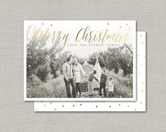 Metallic Christmas Photo Card