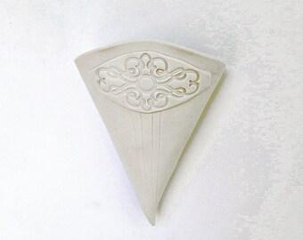 Hanging Ceramic White Matte Porcelain Vase Pocket Pouch Air Plant Planter Decor SECOND SALE
