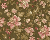 SALE Chestnut Large Floral Collections for a Cause Legacy fabric 1 yard 46030-15