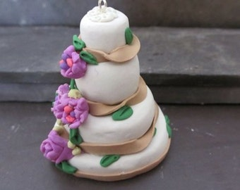 Custom Wedding Cake Ornament - 4 Layer - Memento