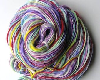 Handspun Yarn -  Superwash  Merino - Thick and Thin Yarn