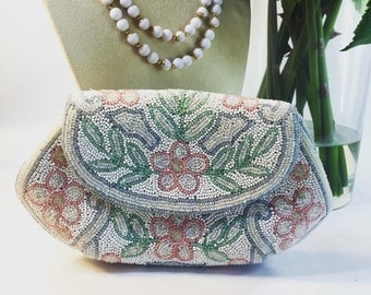 Marshall Fields Beaded French Clutch Evening Bag