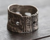 Tribal Textured Silver Ring