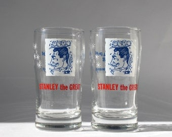 Vintage Miami Beach Tiki Bar Glassware, Stanley the Great, Castaways Tahitian Bar