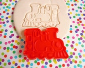 Vintage Train Engine Imprint Cookie Cutter Fondant Cutter Boys Birthday Party Plastic