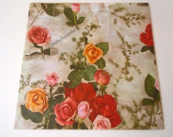 Wedding Wrapping Paper   Red Roses Gift Wrap Paper   Wedding Reception Party