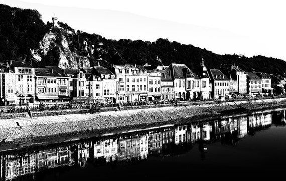 French Village By The Sea png Digital Image art Download clip art printable houses buildings france black and white art
