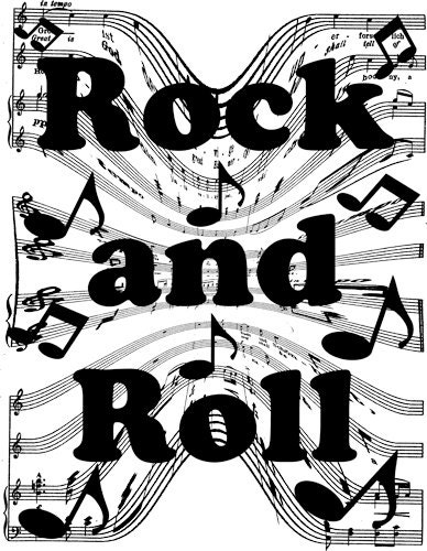 Rock and roll coloring pages free ~ rock and roll words musical notes clip art png clipart Digital