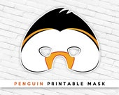 Penguin Printable Mask | Party Mask | Bird Mask | Cosplay