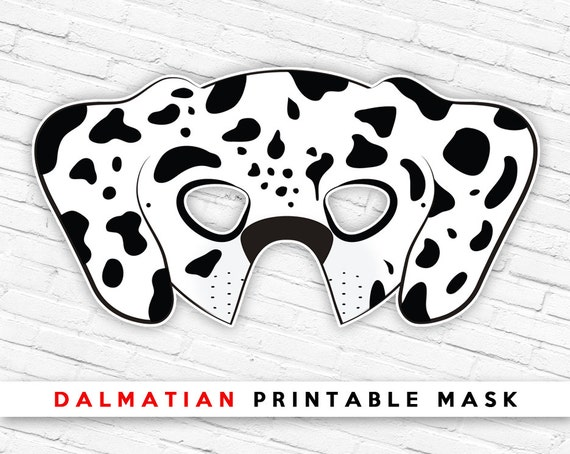 Dalmatian Printable Dog Mask Spotted Dog Mask Printable