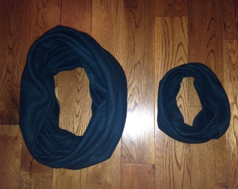 Mommie and Me Forest Green Infinity Scarf Set