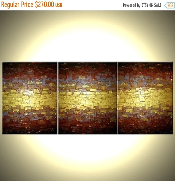 22% Off Sale, Original Abstract Metallic Painting, Textured Gold Painting, Textured Palette Knife Art, 24x54, Lafferty