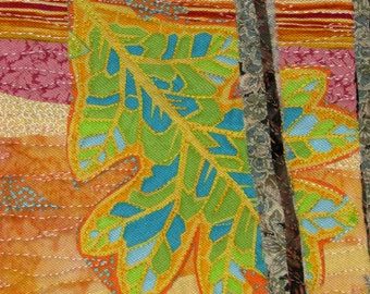 Golden Oak - quilted wall-hanging