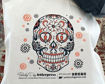 Day of the Dead Skull *NEW* CANVAS TOTE