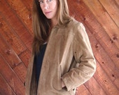 30% off ... Brown Suede WILSONS Leather Zip Up Bomber Jacket - Vintage 90s - SMALL S