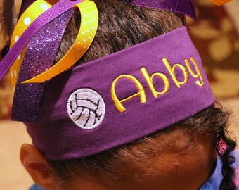 Personalized SPORT headband. Many colors, sports and fonts to choose from.