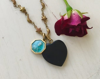 The Black Heart Necklace