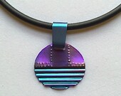 Anodized Niobium Sunset Textured Pendant Necklace