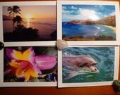 Hawaii photo cards, box of 6 (5 x 7 cards).