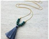 Sale 20% OFF Andaman Necklace, beach necklace, tassel necklace