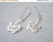 Sale 20% OFF Dandelion Earrings in Silver