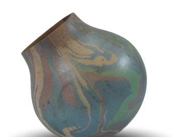 Real Men use Light Green and Violet - Maple Vessel