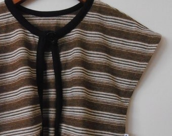 WINTER SALE.. shrug top in vintage wool