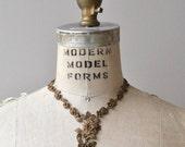 25% OFF SALE Oya brass necklace | vintage 1930s necklace | 30s brass necklace