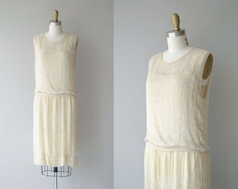 Parlour Match dress | vintage 1920s dress | beaded silk 20s wedding dress