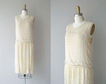 Parlour Match dress | vintage 1920s dress | beaded silk 20s wedding dress