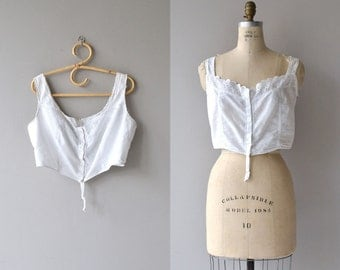 Maisie camisole | antique 1910s camisole | Edwardian cotton corset cover