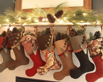 Christmas Stockings - Mocha With Cayenne - Warm & Yummy With a Bit of Spice